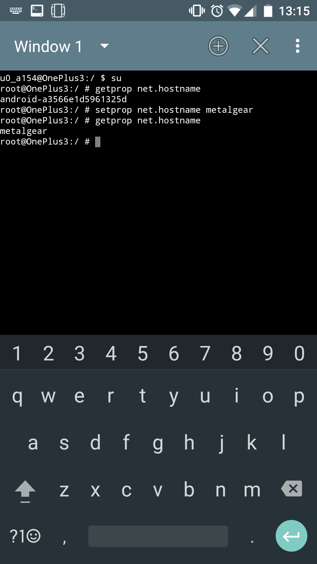 Set Hostname on Android M (6 0 1)