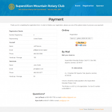Payment - Superstition Mountain Rotary Club