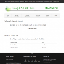 Schedule Appointment - Family Tax Office