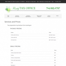 Services and Prices - Family Tax Office