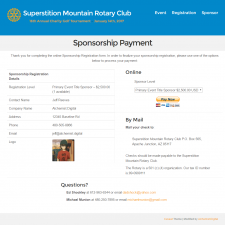 Sponsor Registration - Superstition Mountain Rotary Club