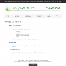 Where's My Refund - Family Tax Office